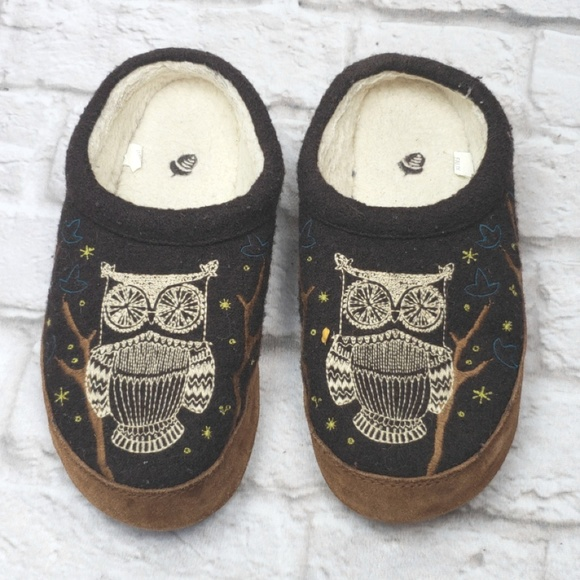 Acorn Shoes | Brown Owl Slippers Size